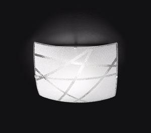 Picture of PLAFONIERA LED 18W 4000K VETRO SERIGRAFATO MODERNA