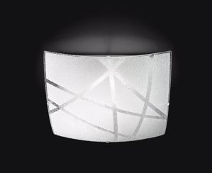 Picture of PLAFONIERA LED 24W 4000K MODERNA VETRO BIANCO SERIGRAFATO PER INTERNI