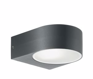 Picture of ANTHRACITE WALL LIGHT MODERN DESIGN FOR OUTDOOR GARDEN IDEAL LUX IKO AP1