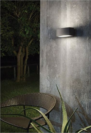 Picture of IDEAL LUX ANDROMEDA OUTDOOR WALL LAMP BLACK 1 LIGHT 22CM