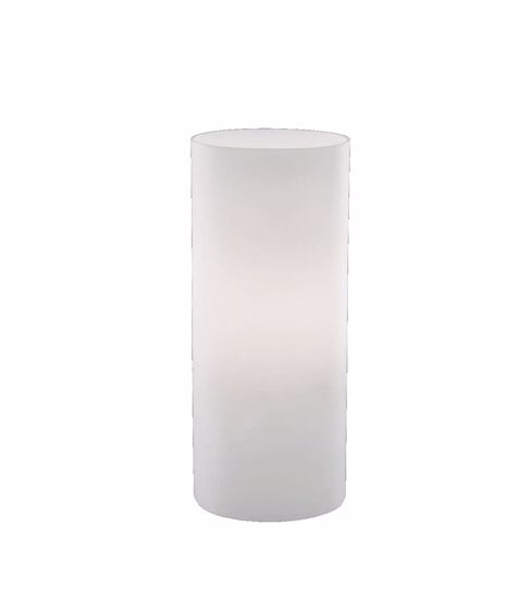 Picture of GLASS BEDSIDE TABLE LAMP 23CM WHITE GLASS CYLINDER FOR BEDROOM