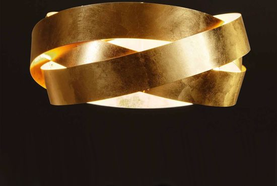 Picture of MARCHETTI PURA CEILING LAMP 60 GOLD LEAF 3XE27