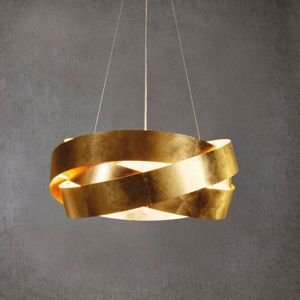 Picture of PENDANT LIGHT MARCHETTI PURA Ø60CM GOLDEN LEAF METAL DESIGN