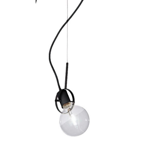 Picture of 1-LIGHT SUSPENSION VISIBLE LAMP WITH BLACK FABRIC CABLE IDEALLUX