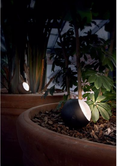 Picture of IDEAL LUX ZENITH ANTHRACITE PICKET LED LAMP FOR GARDENS ANT POTS