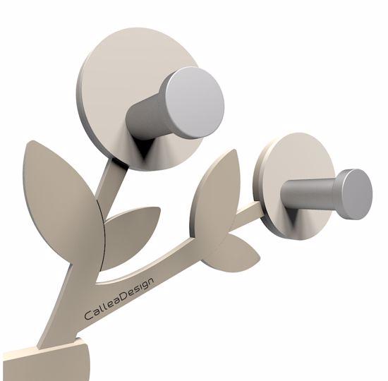 Picture of CALLEA DESIGN FRANCINE MODERN WALL COAT HANGER DOVE GREY