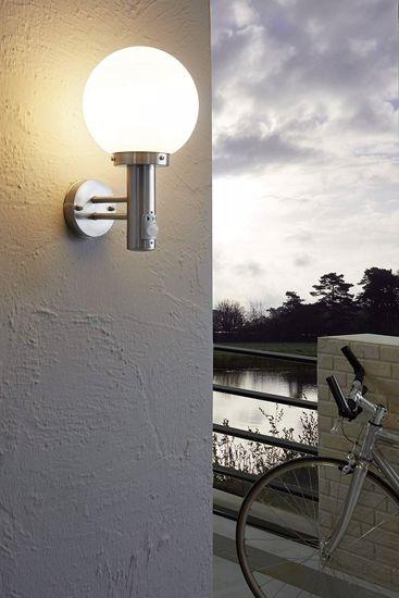 Picture of EGLO NISIA OUTDOOR SPHERE WALL LAMP WITH MOTION SENSOR Ø20CM