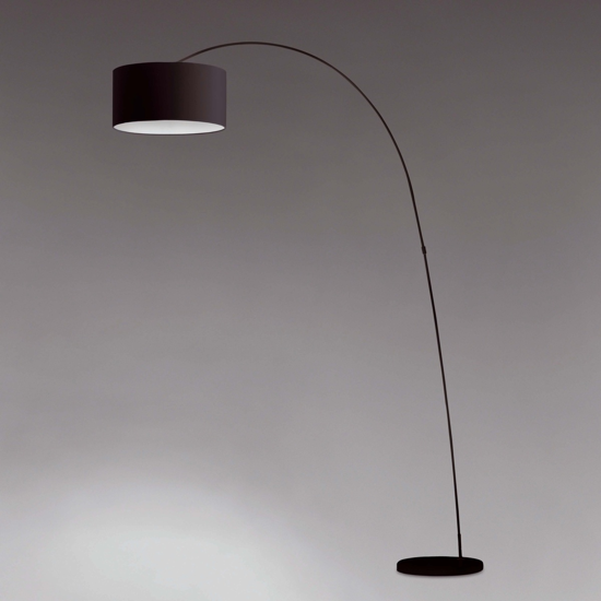 Picture of FARO PAPUA BLACK ARCH FLOOR LAMP WITH BLACK SHADE