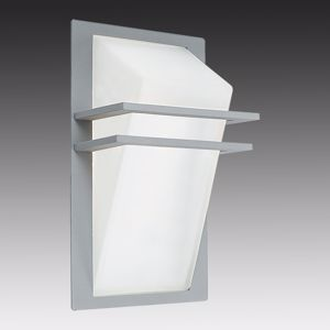 Picture of EGLO  PARK OUTDOOR WALL LIGHT COLOR SILVER IN ALUMINIUM AND GLASS IP44