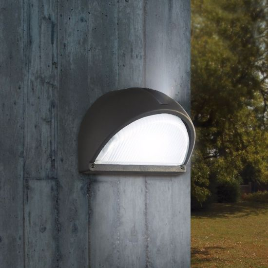 Picture of EGLO ONJA BLACK OUTDOOR WALL LAMP IN ALUMINIUM AND GLASS