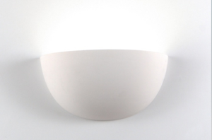 Picture of ISYLUCE WALL LAMP WHITE CERAMIC L32CM PAINTABLE