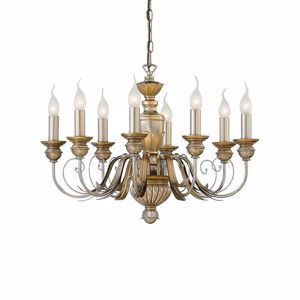 Picture of IDEAL LUX DORA SP8 CLASSIC PENDANT LAMP GOLD LEAF