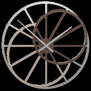 Picture of OROLOGIO GRANDE 95CM DA PARETE MODERNO ROVERE WENGE ROTONDO DESIGN ORIGINALE