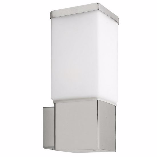 Picture of EGLO CALGARY OUTDOOR WALL LIGHT STEEL AND WHITE GLASS