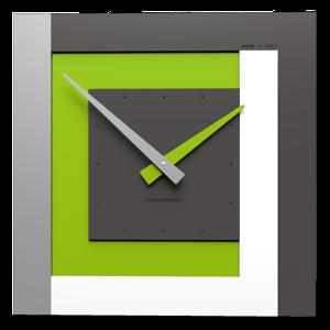Picture of CALLEA DESIGN CLOCK40 STRIPES OROLOGIO A PARETE MODERNO VERDE MELA BIANCO GRIGIO