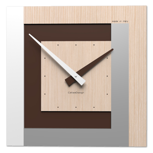 Picture of MODERNO OROLOGIO A PARETE ROVERE DECAPE CALLEA DESIGN CLOCK40 STRIPES