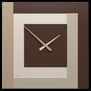 Picture of CLOCK63 STRIPES CALLEA DESIGN OROLOGIO A PARETE GRANDE CIOCCOLATO