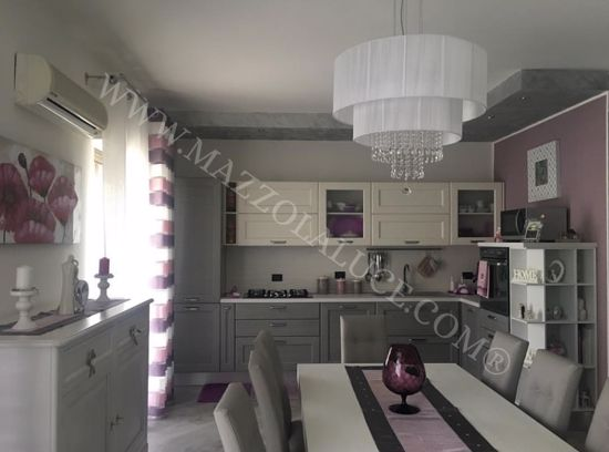 Picture of IDEAL LUX OPERA PENDANT LAMP WITH SHADES SP6 6 LIGHTS