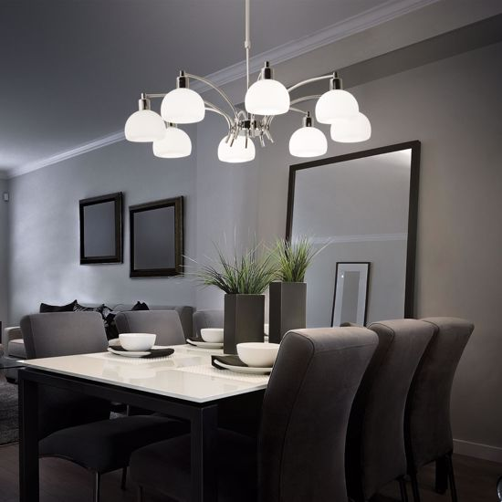 Picture of IDEAL LUX TOKYO GLASS SUSPENSION SP8 8 LIGHTS