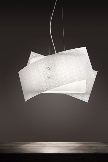 Picture of ANTEA LUCE FOLD MODERN GLASS PENDANT LIGHT 3 LIGHTS