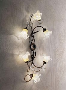Picture of IDEAL LUX TIROL PL6 CEILING LAMP 6 ARMS HAND DECORATED