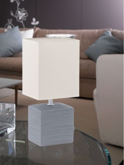 Picture of EGLO BEDSIDE LAMP FOR BEDROOM GREY & WHITE