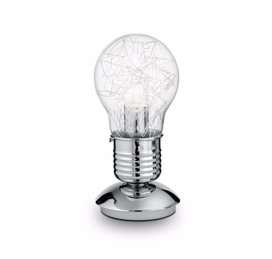 Picture of TABLE LAMP BULB SHAPE CLEAR GLASS DIFFUSER MODERN DESIGN