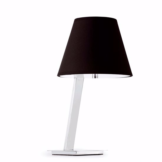 Picture of FARO MOMA CHROME TABLE LAMP CHROME AND BLACK MODERN DESIGN
