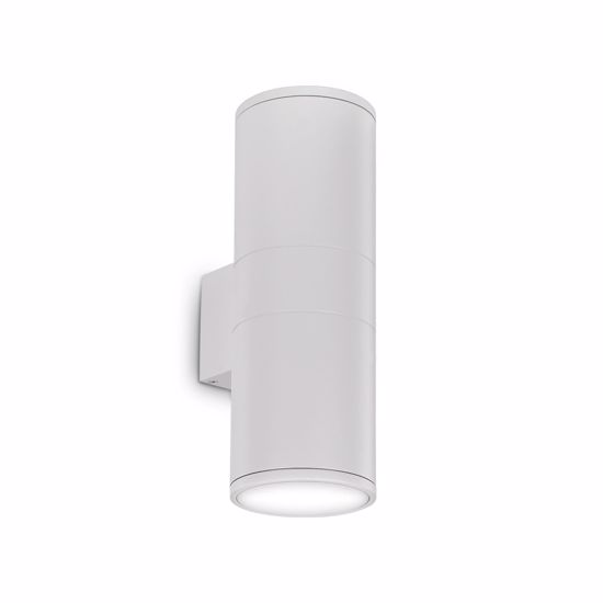 Picture of IDEAL LUX GUN AP2 BIG OUTDOOR WALL LAMP WHITE