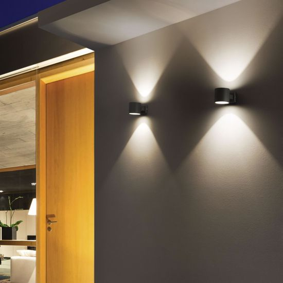 Picture of IDEAL LUX SNIF OUTDOOR WALL LAMP AP1 BIG GREY