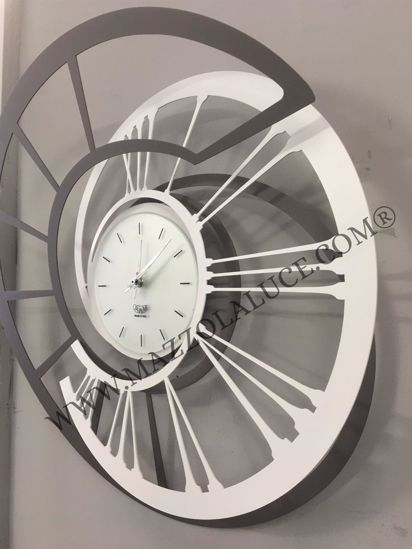 Picture of ARTI E MESTIERI ECLISSI WALL CLOCK SLATE WHITE ECLIPSE