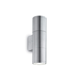 Picture of IDEAL LUX GUN AP2 SMALL OUTDOOR WALL LAMP ALUMINIUM