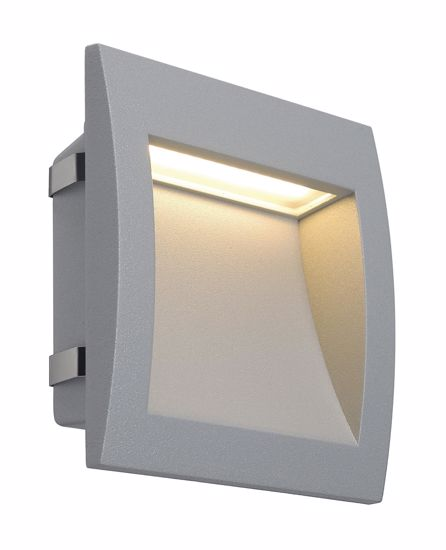 Picture of RECESSED PATHWAY LED LIGHT IP55 3000K SILVER GREY SQUARE LAMP