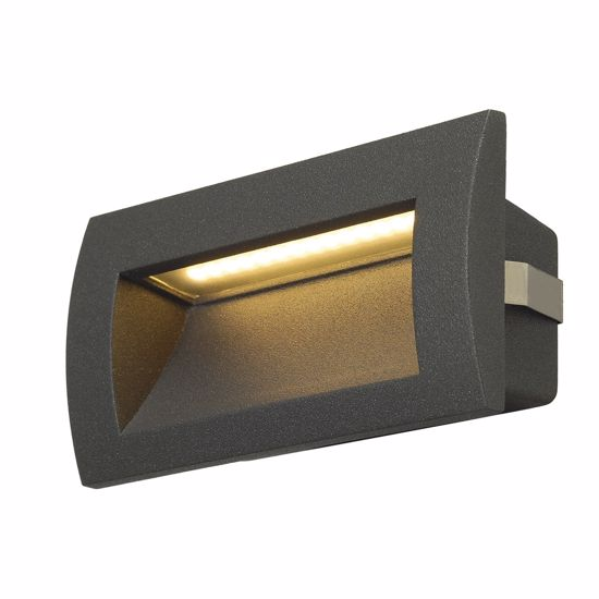 Picture of RECTANGULAR LED PATHWAY LIGHT WALL RECESSED LAMP IP55 ANTHRACITE COLOUR
