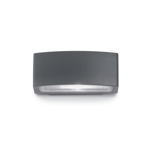 Picture of IDEAL LUX ANDROMEDA OUTDOOR WALL LAMP ANTHRACITE 1 LIGHT 22CM