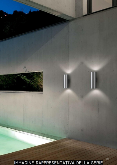 Picture of IDEAL LUX GUN AP2 BIG OUTDOOR WALL LAMP BLACK