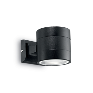Picture of IDEAL LUX SNIF OUTDOOR WALL LAMP AP1 BIG BLACK