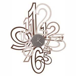 Picture of ARTI E MESTIERI MIMIC BIG WALL CLOCK CORTEN/BEIGE/WHITE