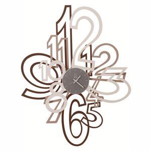 Picture of ARTI E MESTIERI MIMIC BIG WALL CLOCK CORTEN/BEIGE/WHITE