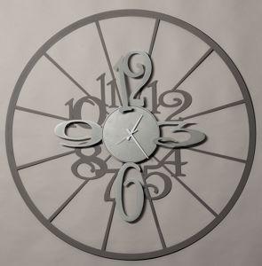 Picture of BIG KALESY WALL CLOCK Ø100 SLATE ALUMINIUM ARTI E MESTIERI