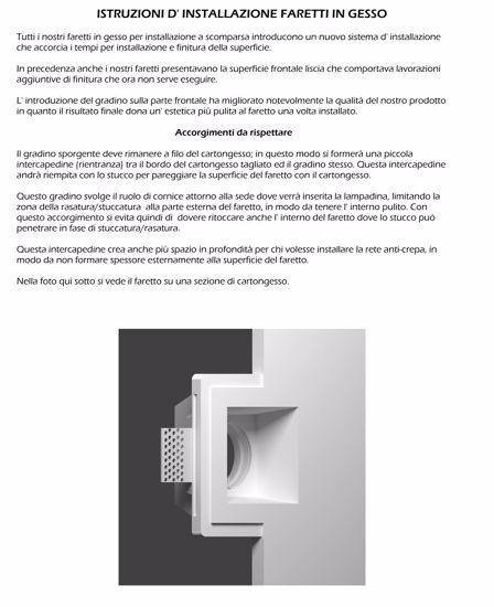 Picture of ISYLUCE SQUARE RECESSED SPOTLIGHT IN GYPSUM FOR FALSE CEILING
