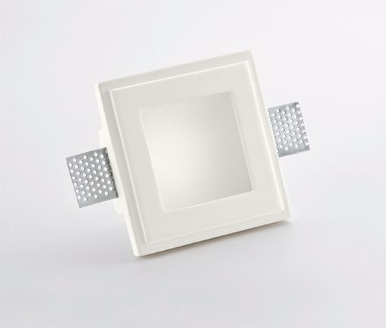 Picture of ISYLUCE SQUARE RECESSED SPOTLIGHT IN GYPSUM FOR FALSE CEILING