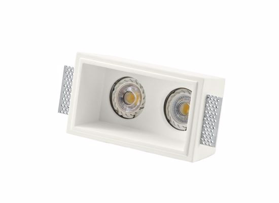 Picture of ISYLUCE SQUARE DOUBLE SPOTLIGHT IN GYPSUM FOR FALSE CEILING