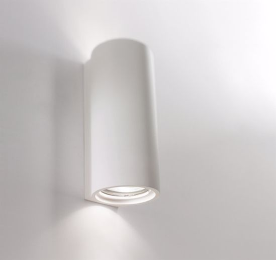 Picture of CYLINDRIC PLASTER WALL LIGHT PAINTABLE DOUBLE LIGHTING EMISSION 7X16X7