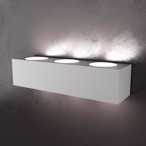 Picture of GRANDE APPLIQUE LED 6 LUCI METALLO GRIGIO MODERNA BIEMISSIONE