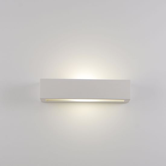 Picture of RECTANGULAR PLASTER WALL LIGHT 36.5 PAINTABLE PLASTER 2 LIGHTS