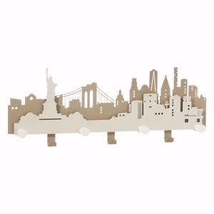 Picture of ARTI E MESTIERI APPENDIABITI DA PARETE DELLA GRANDE MELA NYC METALLO BEIGE E AVORIO