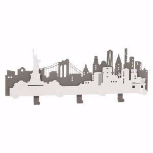 Picture of ARTI E MESTIERI APPENDIABITI DA PARETE DELLA GRANDE MELA NYC METALLO ARDESIA E BIANCO MARMO