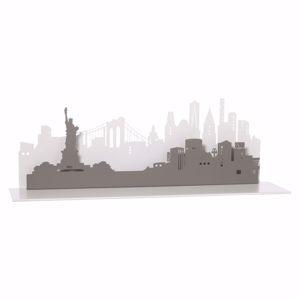 Picture of ARTI E MESTIERI MENSOLA CONSOLLE DA INGRESSO NEW YORK CITY BIANCO MARMO E ARDESIA