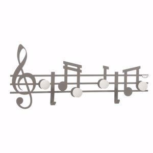 Picture of ARTI E MESTIERI APPENDIABITI DA PARETE MODERNO ARDESIA NOTE MUSICALI